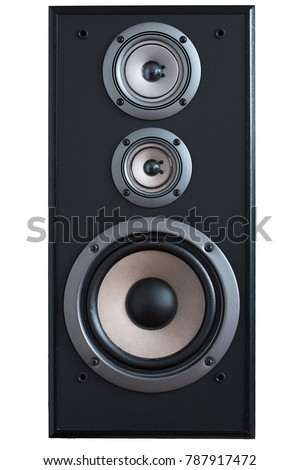 Image wooden speaker with tweeter and woofer #787917472
