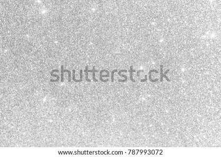 Silver background Abstract Bokeh Christmas. Royalty-Free Stock Photo #787993072