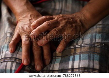 Old woman's hands #788279863