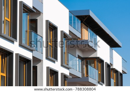 New modern architectural building house. #788308804
