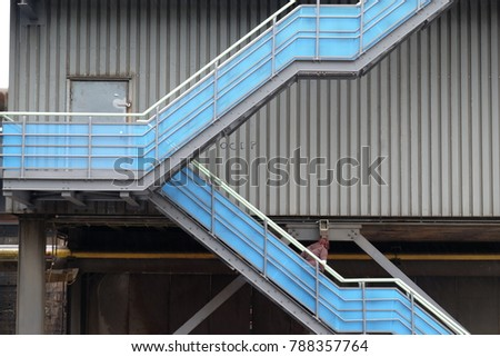 stairs in old steelwork #788357764