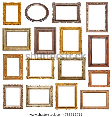 Old picture frames collection
