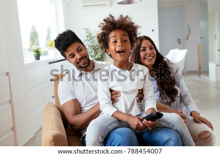 Picture of happy family spending time together #788454007
