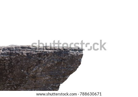 Rocky cliff isolated on a white background Royalty-Free Stock Photo #788630671