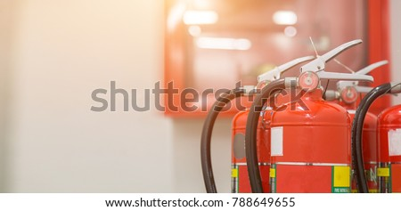 fire extinguishers available in fire emergencies. #788649655