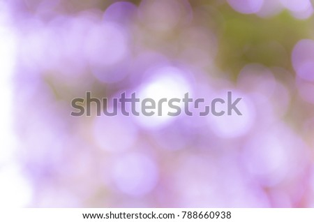 Violet abstract bokeh background from nature environment #788660938