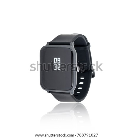 Wireless Smart Watch isolated on white background #788791027