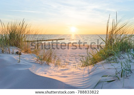 Sunset at the Baltic Sea Beach #788833822