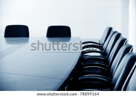 Empty business conference room interior. #78899164