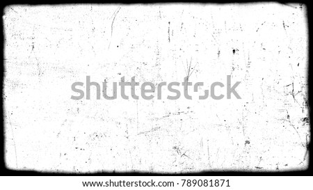 Abstract dirty or aging film frame. Dust particle and dust grain texture or dirt overlay use effect for film frame with space for your text or image and vintage grunge style. #789081871