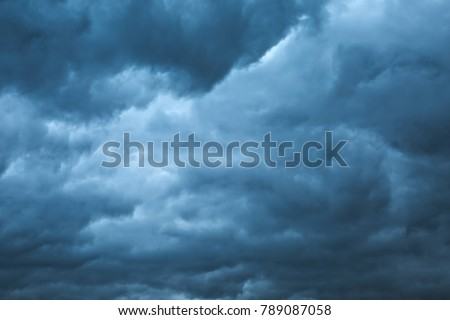 Clouds in the stomy sky