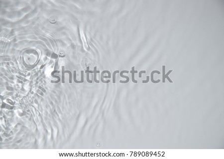 rippled water on white background Royalty-Free Stock Photo #789089452