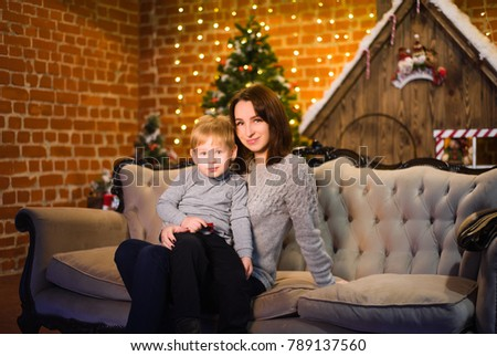 family together celebrates the holidays new year's new year and christmas and are very happy together #789137560