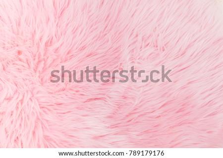Light pink long fibre soft fur #789179176