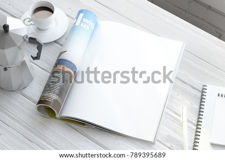 Clean magazine page Royalty-Free Stock Photo #789395689
