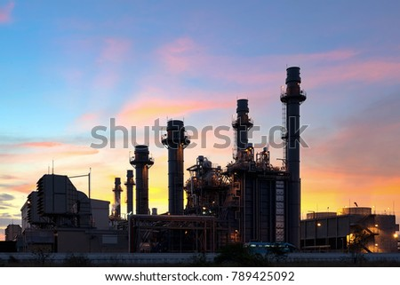 Natural gas combined cycle power plant and Turbine generator. #789425092