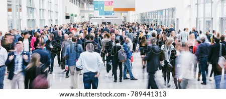 large crowd of anonymous blurred people Royalty-Free Stock Photo #789441313