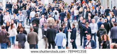 Crowd of anonymous business people