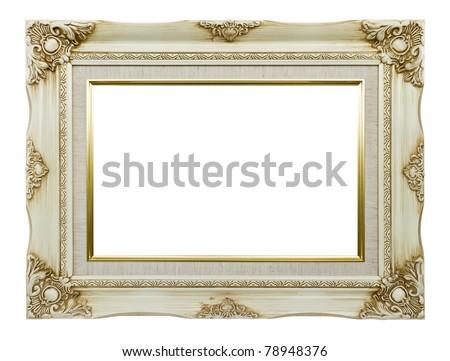 Vintage white picture frame #78948376