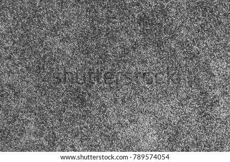 Seamless monochrome grey carpet texture background from above #789574054