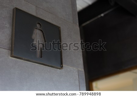 Sign in the women toilet. #789948898