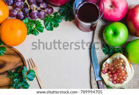 The fruits are prepared for healthy eating and weight loss. And there is space for text input. The colors of the fruits make it interesting. #789994705