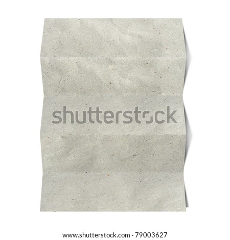 recycled folded paper craft stick on white background #79003627