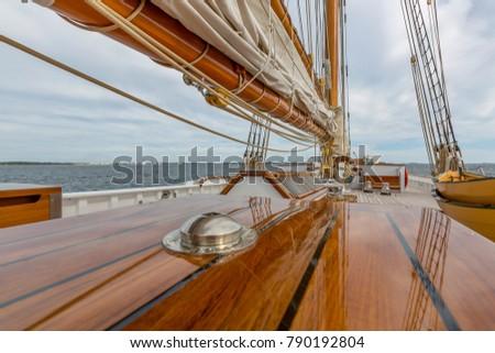 Sailing Yacht Columbia, classic Gloucester fishing schooner #790192804