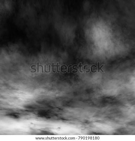 White fog and mist effect on black background. #790198180