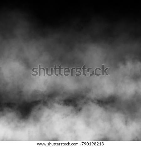 White fog and mist effect on black background. #790198213