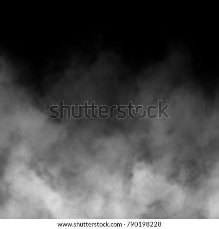 White fog and mist effect on black background. #790198228