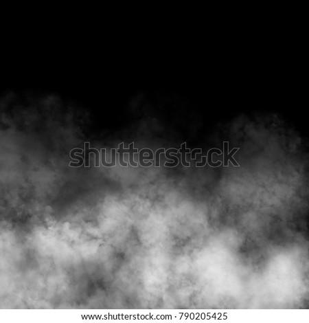 White fog and mist effect on black background. #790205425