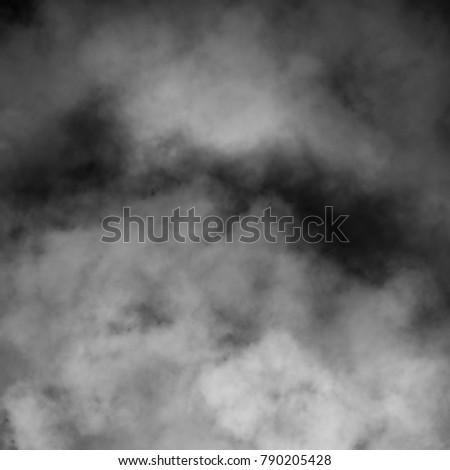 White fog and mist effect on black background. #790205428