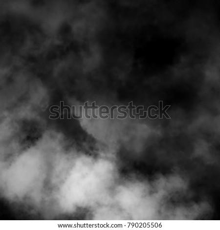White fog and mist effect on black background. #790205506