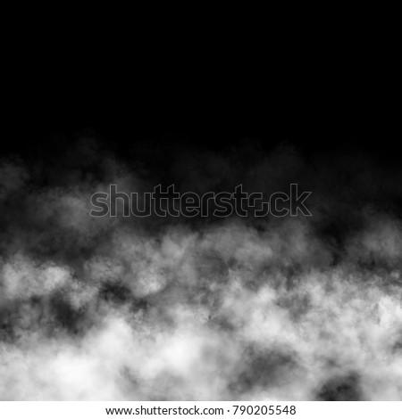 White fog and mist effect on black background. #790205548