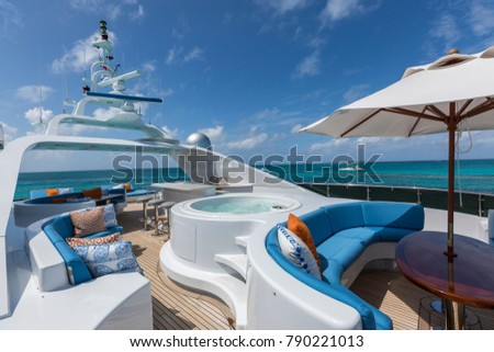 Vacation on Motor Yacht, details of Interior Luxury Yacht from Bahamas to Caribbean #790221013