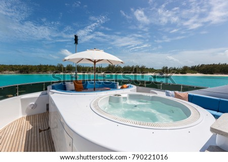 Vacation on Motor Yacht, details of Interior Luxury Yacht from Bahamas to Caribbean #790221016