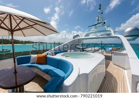 Vacation on Motor Yacht, details of Interior Luxury Yacht from Bahamas to Caribbean #790221019