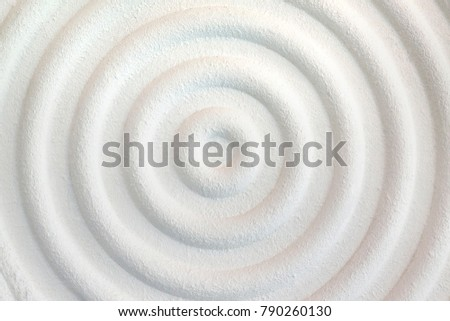 Decorative white cement wall background of abstract waves. #790260130