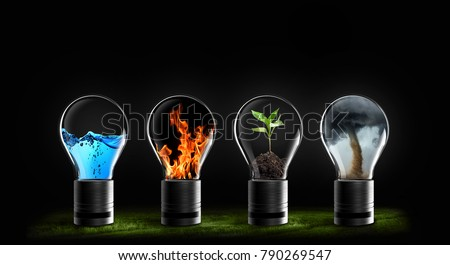 four elements of nature Royalty-Free Stock Photo #790269547