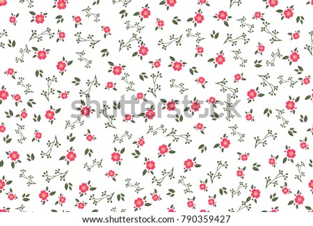 Vector abstract seamless simple floral pattern. Flower pattern. Spring pattern. Pattern for textiles or for cover. Wallpaper. #790359427