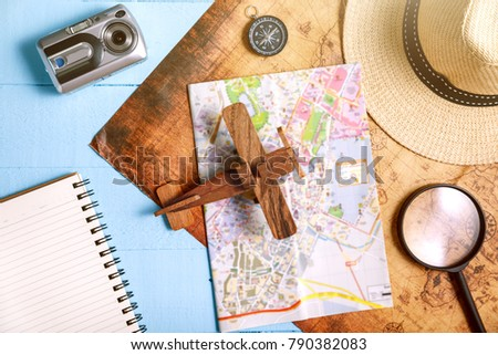 Travel plan, trip vacation, tourism mockup - Outfit of traveler #790382083