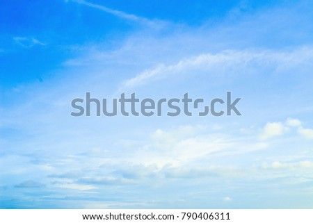 Blue sky and white clouds background #790406311