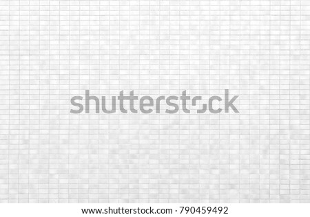 White brick tile wall or White tile floor seamless background and texture #790459492