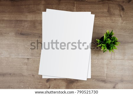 White paper and space for text on old wooden background Royalty-Free Stock Photo #790521730