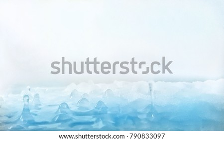 Soft Blur  & Cool Background ( Cool tone) - taken in the refridgerator and ratate picture 180°C  to make picture like small ice moutain