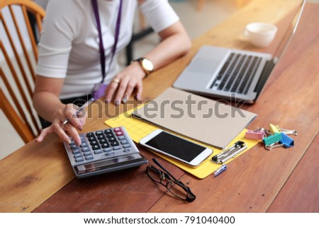 Business objects of engineers office with construction engineer architect and worker looking  #791040400