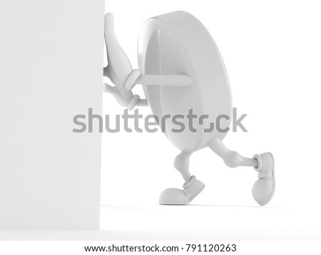 Tablet character isolated on white background. 3d illustration #791120263