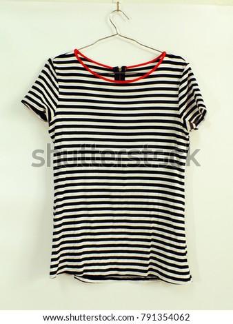 striped shirt hanging fashion clothing marine style #791354062