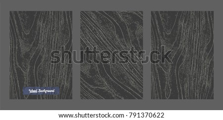 Vector Black wood background and texture. Royalty-Free Stock Photo #791370622